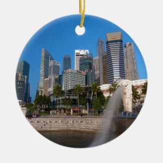 Singapore- Merlion Park Ceramic Ornament