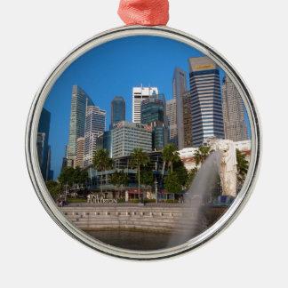 Singapore- Merlion Park Metal Ornament
