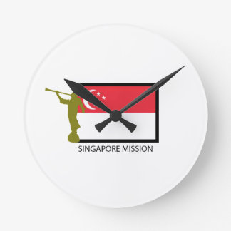 SINGAPORE MISSION LDS CTR ROUND WALL CLOCK