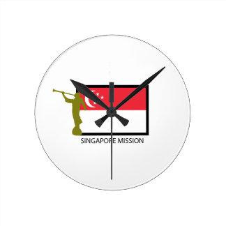 SINGAPORE MISSION LDS CTR ROUND CLOCK