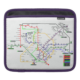 Singapore MRT Map - iPad Sleeve