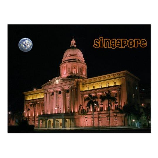 Singapore night lights postcard