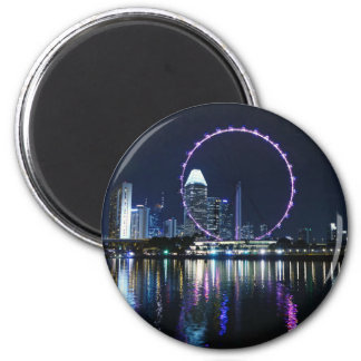 Singapore night skyline magnet