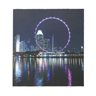 Singapore night skyline notepad
