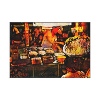 Singapore Noodle Stall - Art On Canvas Print