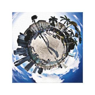 Singapore Pier - Polar Exposed Canvas Print
