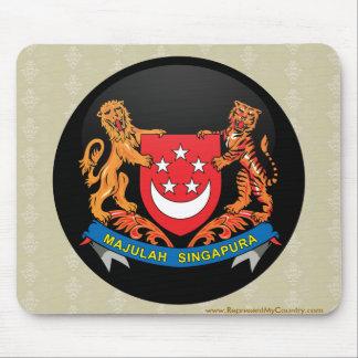 Singapore quality Flag Circle Mouse Pad