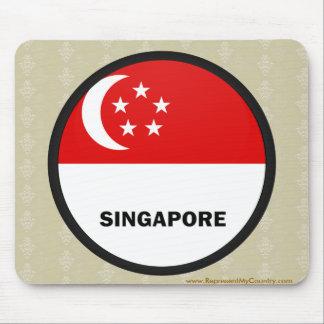 Singapore Roundel quality Flag Mouse Pad