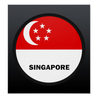Singapore Roundel quality Flag Poster