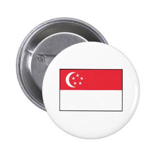 Singapore – Singaporean Flag Pinback Button