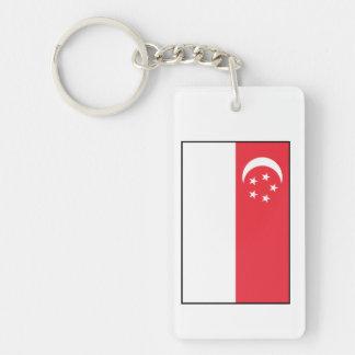 Singapore – Singaporean Flag Double-Sided Rectangular Acrylic Keychain