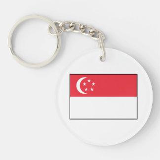 Singapore – Singaporean Flag Double-Sided Round Acrylic Keychain