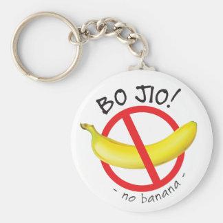 Singapore Singlish - Bo Jio - No Invite, No Banana Basic Round Button Keychain