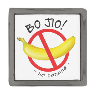 Singapore Singlish - Bo Jio - No Invite, No Banana Gunmetal Finish Lapel Pin