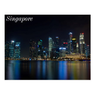 Singapore Skyline at Fullerton Postcard
