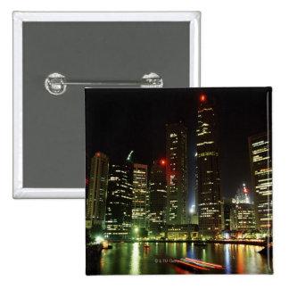 Singapore skyline at night button