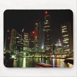 Singapore skyline at night mouse pad