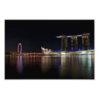 Singapore Skyline by Night Photo Print