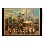 Singapore Skyline Card