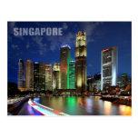 Singapore skyline from Elgin Bridge Postcard