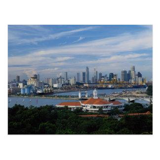 Singapore skyline from Sentosa Island, Singapore Postcard