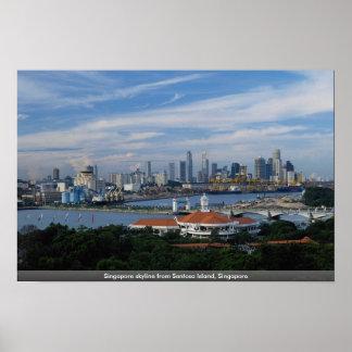 Singapore skyline from Sentosa Island, Singapore Poster
