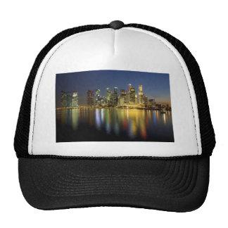 Singapore skyline mesh hat