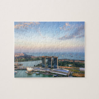 Singapore Skyline Oceanview Jigsaw Puzzle