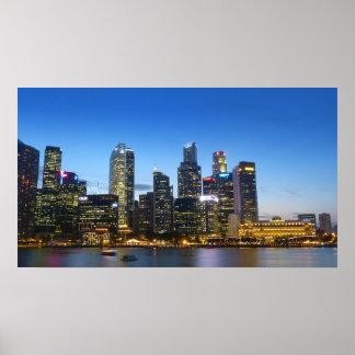 Singapore skyline poster