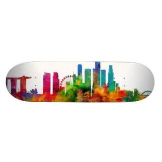 Singapore Skyline Skateboard Deck