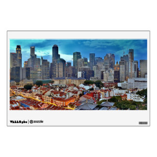 Singapore skyline viewed from Chinatown at sunset Wall Sticker