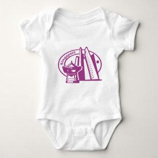 Singapore Stamp Baby Bodysuit
