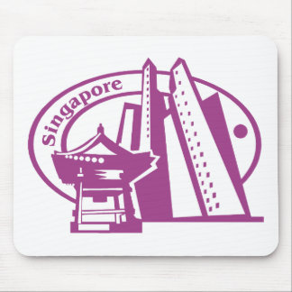 Singapore Stamp Mouse Pad