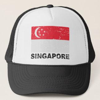Singapore Vintage Flag Trucker Hat