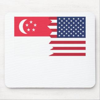 Singaporean American Flag Mouse Pad