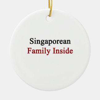 Singaporean Family Inside Christmas Ornaments