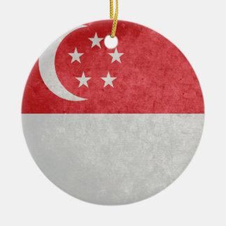 Singaporean Flag Christmas Ornament