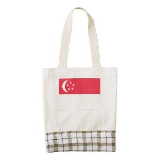 Singaporean Flag Zazzle HEART Tote Bag