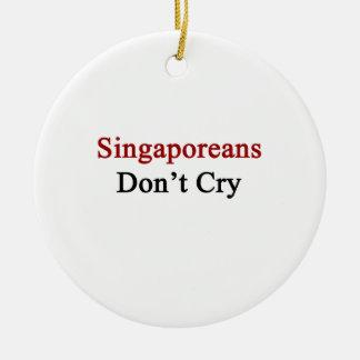 Singaporeans Don't Cry Christmas Ornament