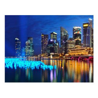 Singapore's Nightlife At Marina Bay Postcard