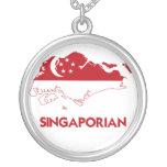 SINGAPORIAN MAP NECKLACES