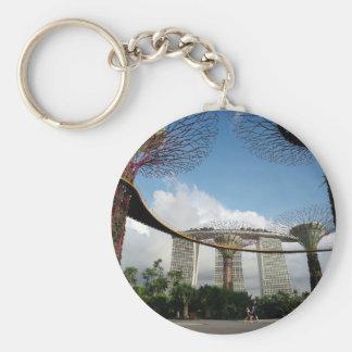 Singapur - jardín por las arenas de la bahía y de llaveros