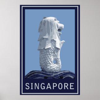 Singapur Merlion Póster