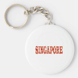 SINGAPUR: Orgullo nacional n que celebra Llavero Redondo Tipo Chapa
