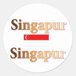 Singapur Pegatina Redonda