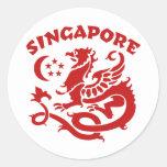 Singapur Pegatinas Redondas