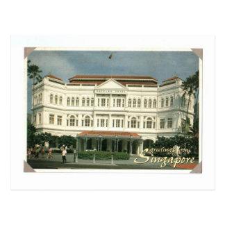 SINGAPUR RAFFLES EL HOTEL TARJETA POSTAL