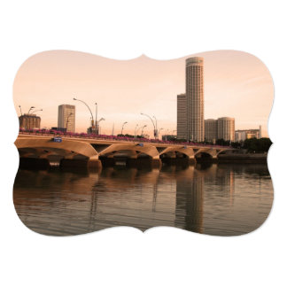 Singapur urbano invitación 12,7 x 17,8 cm