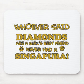 Singapura cat breed designs mouse pad