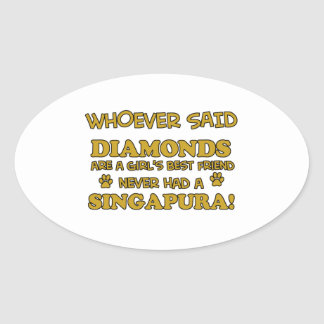 Singapura cat breed designs stickers
